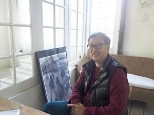 代表の福島澄夫さん。パリスマンションのスタジオ内にて。
